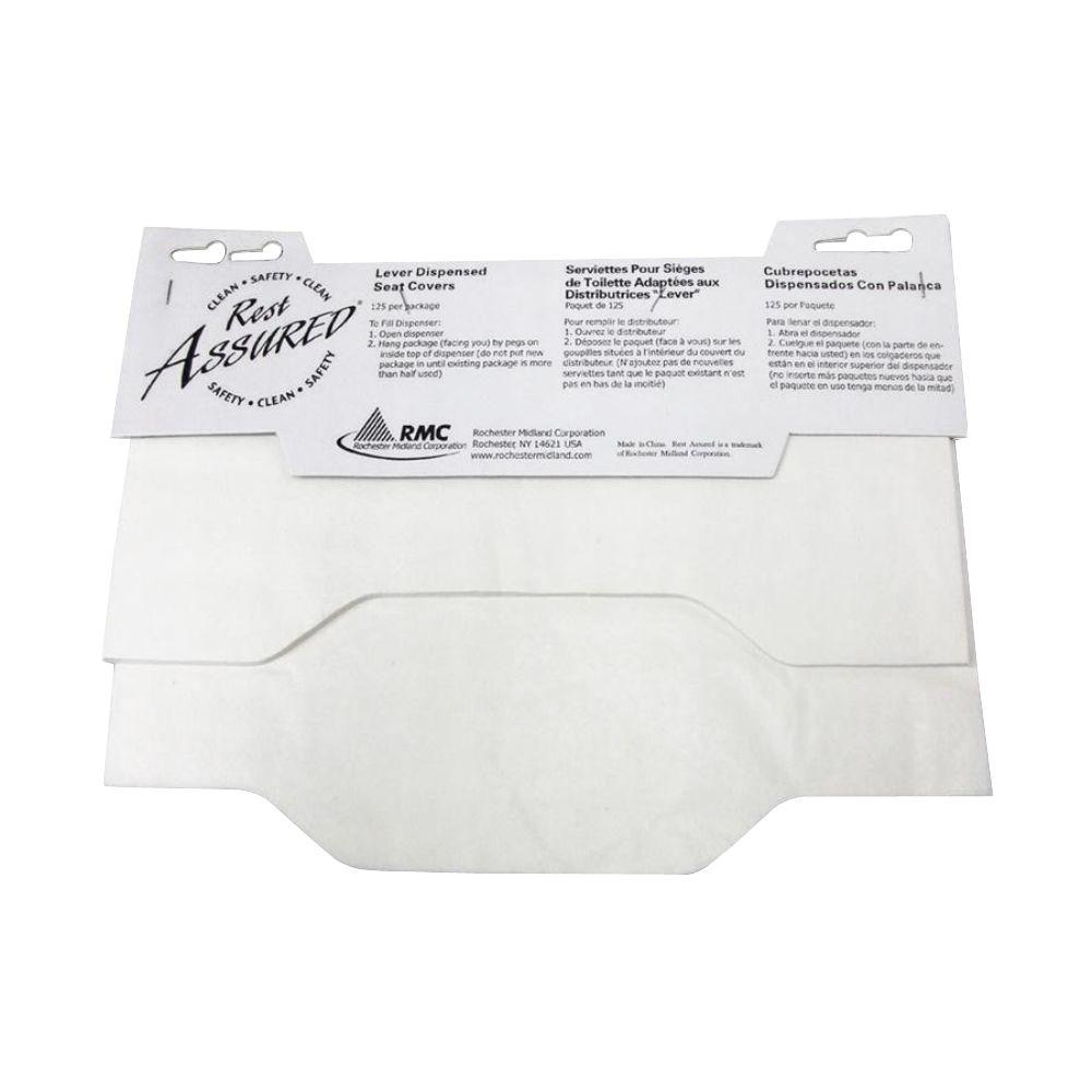 RMC Levered Toilet Seat Covers (125-Pack), White