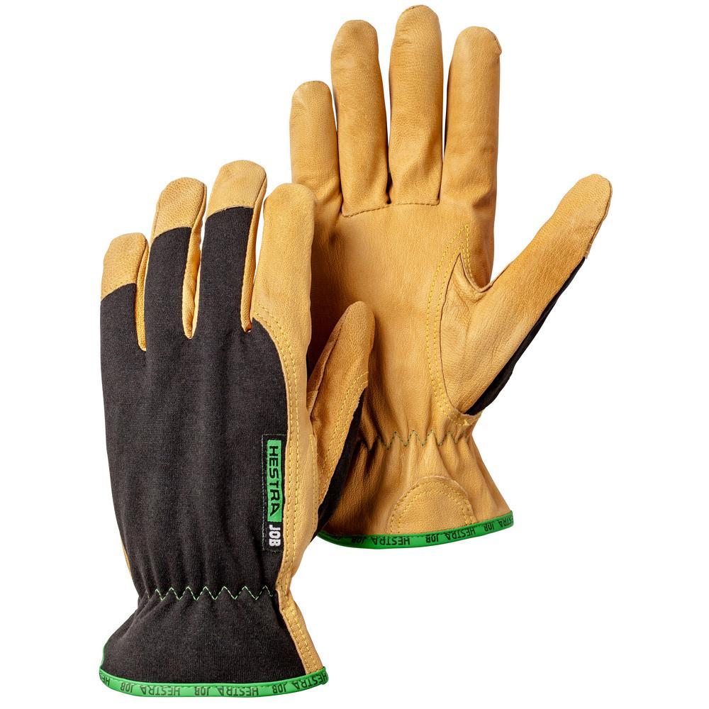Golden Kobolt Size 8 Tan/Black Leather Gloves