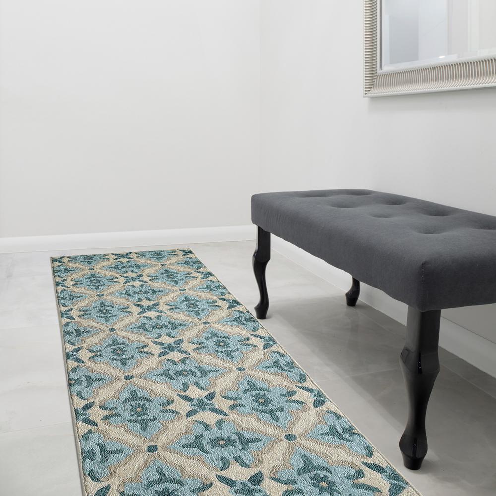Lanart Muskoka Porcelain Polyester 3 ft. x 8 ft. Runner Rug