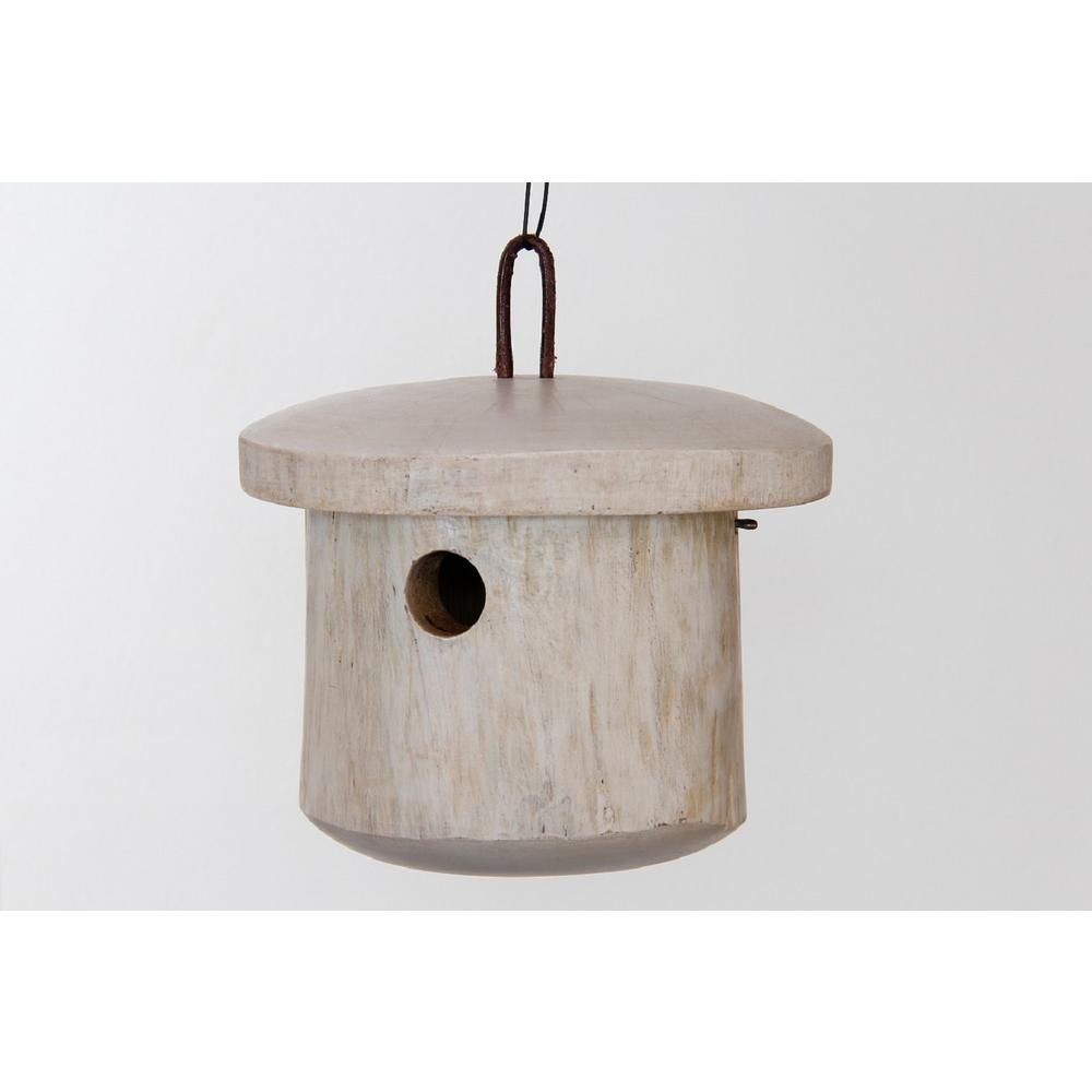 7 in. Mango Wood Primitive Bird House