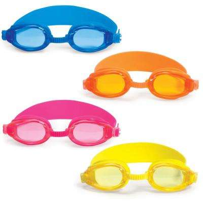 Advantage Orange, Blue, Pink and Yellow Junior Goggles (4-Pack)