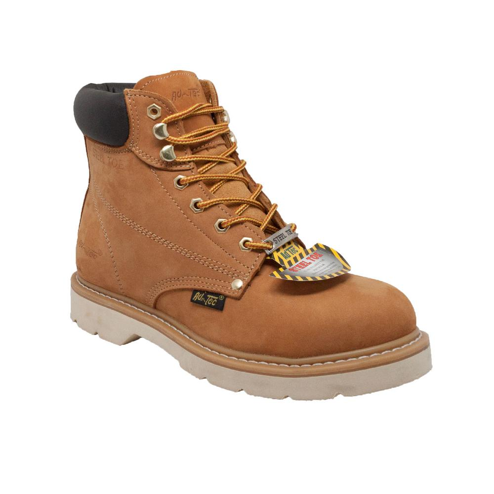 3c3312bc785 Adtec Men's Wide 8.5 Tan Nubuck Leather Steel Toe Work Boot