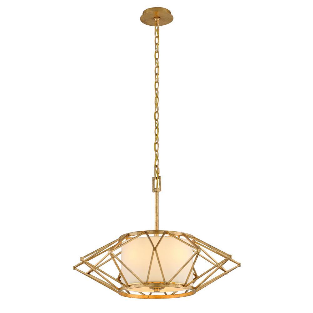 Troy Lighting Calliope 4-Light Rustic Gold Leaf Pendant