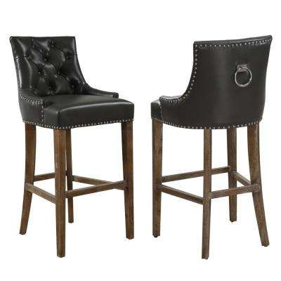 Uptown 43 in. Grey Barstool