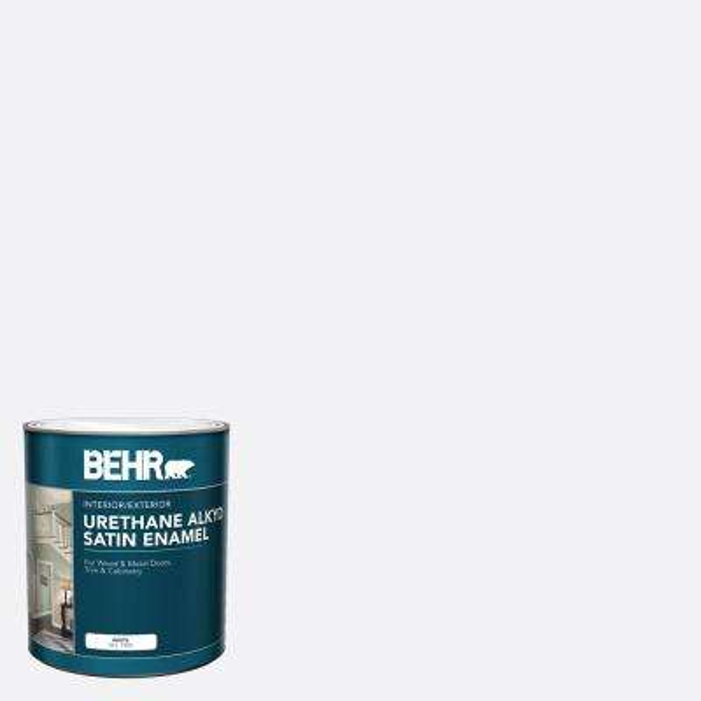 1 qt. White Urethane Alkyd Satin Enamel Interior/Exterior Paint