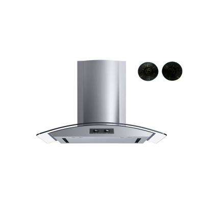 30 in. Convertible Wall Mount Range Hood in Stainless Steel with Mesh Filter in Stainless Steel Panel and Carbon Filters
