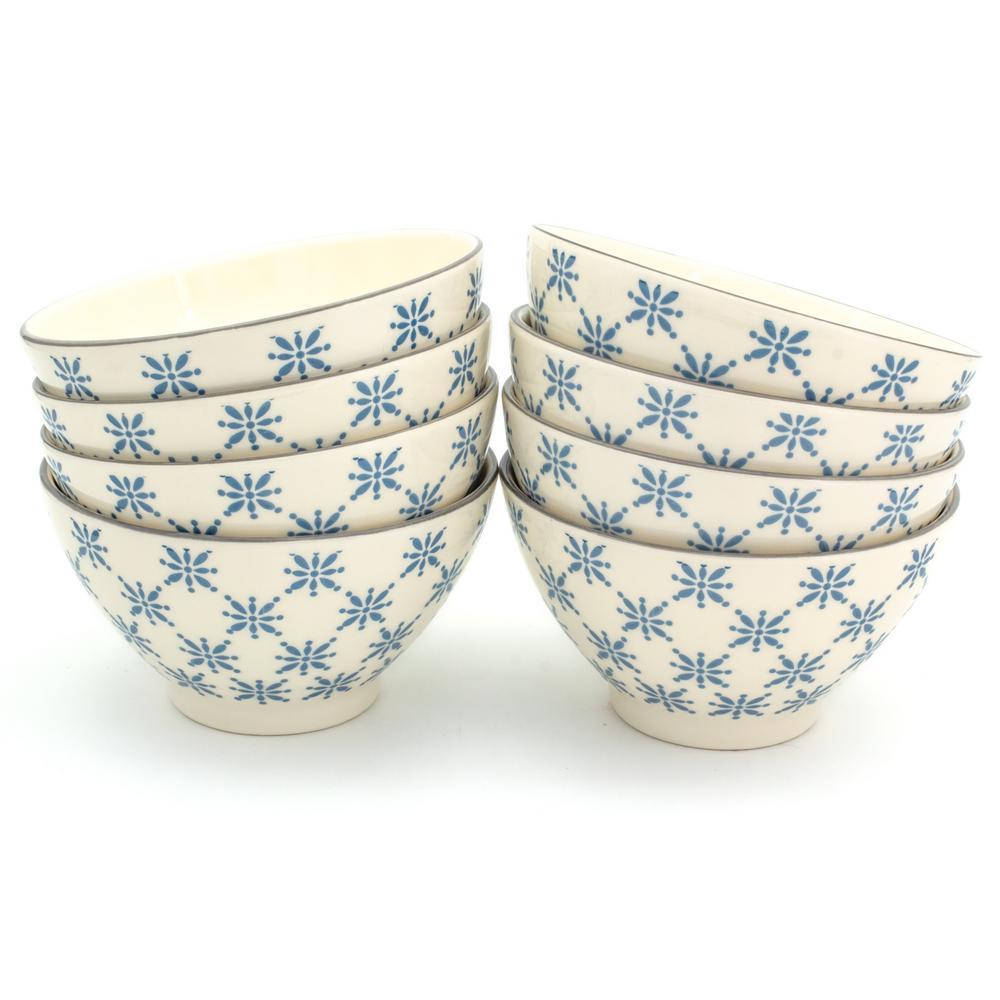 Sintra 8-Piece Blue Dining Bowl Set