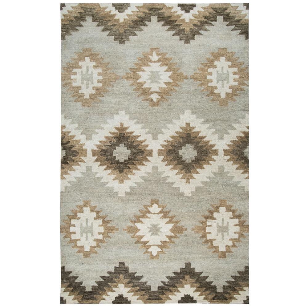 Rizzy Home Leone Gray Southwestern 8 Ft X 10 Area Rug