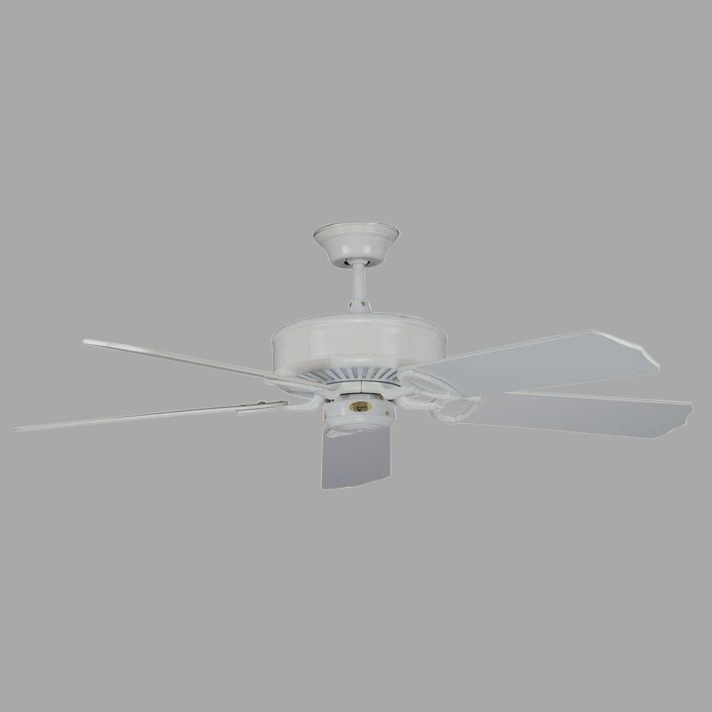 Madison Series 52 in. Indoor White Ceiling Fan