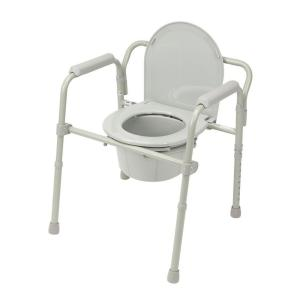 DMI Duro-Med Heavy-Duty Steel Commode with Platform Seat-802-1208 ...