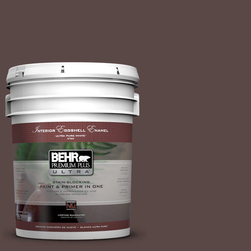 BEHR Premium Plus Ultra 5-gal. #750B-7 Thick Chocolate Eggshell Enamel Interior Paint