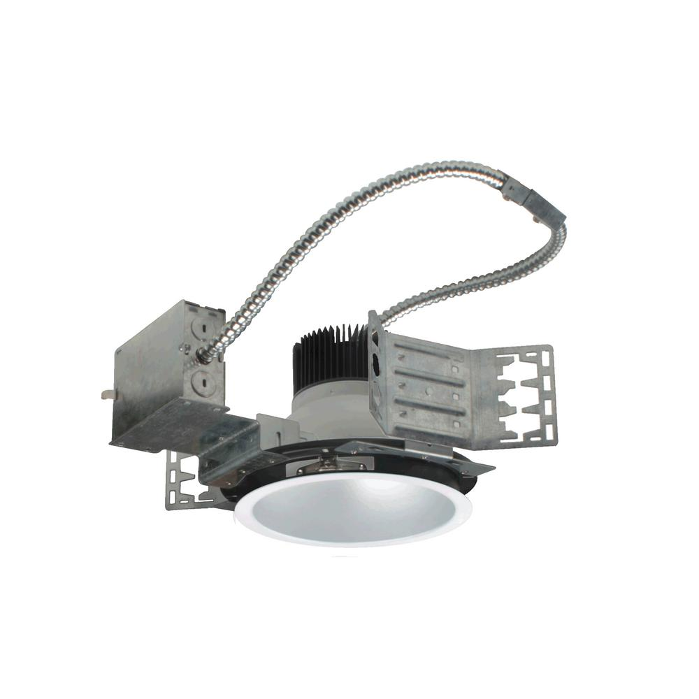 sale retailer 70768 252af NICOR NICOR 8 in. White (4000K) Recessed Architectural LED Downlight Kit  with Housing and LED Trim with 3000 Lumens