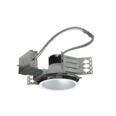 Nicor 8 In White 4000k Recessed Architectural Led Downlight Kit With Housing And Trim 3000 Lumens