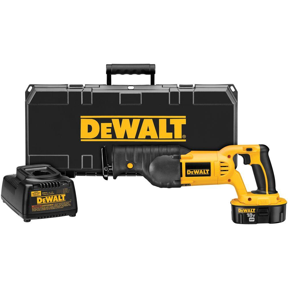 18-Volt NiCd Cordless Reciprocating Saw Kit with Battery 2.4Ah, Charger and