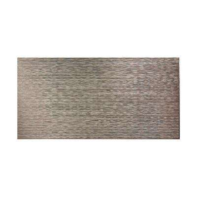 Ripple Horizontal 96 in. x 48 in. Decorative Wall Panel in Galvanized Steel