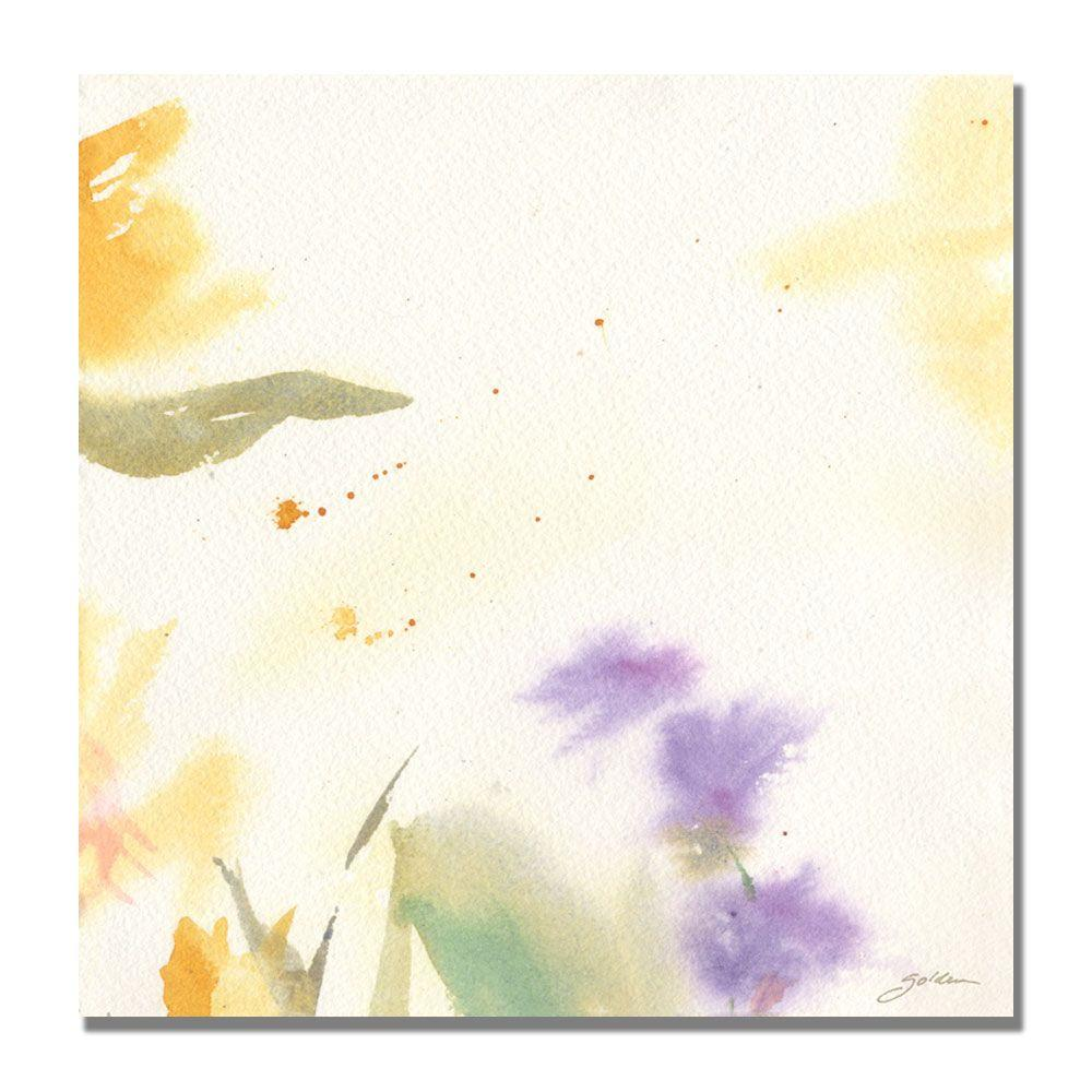 24 in. x 24 in. Flowers Abstract II Canvas Art