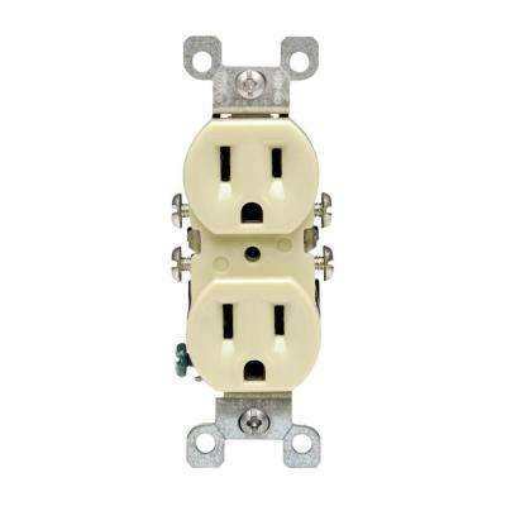15 Amp CO/ALR Duplex Outlet, Ivory