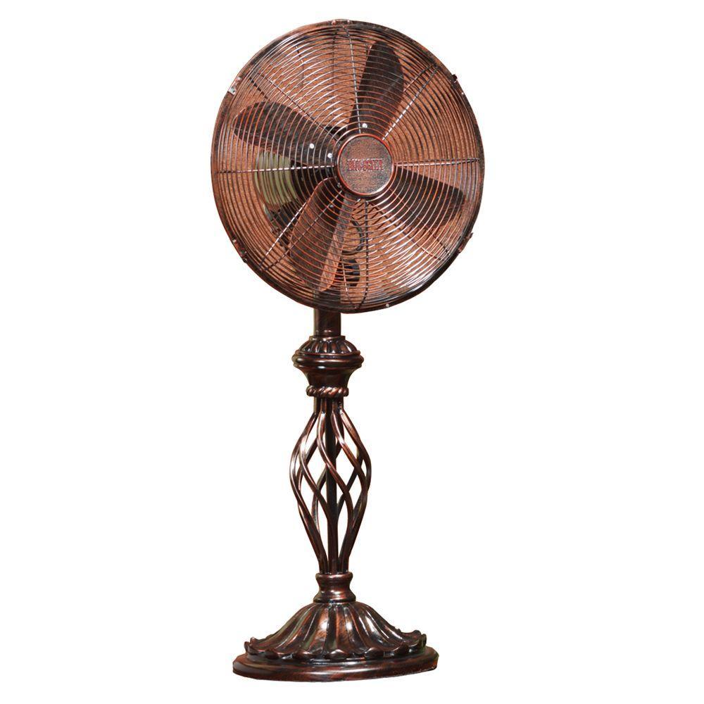 Deco Breeze 12 In Prestige Rustica Table Fan Dbf0503