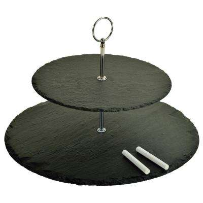 Serat 2-Layer Slate Cheese Board with Soapstone Chalk