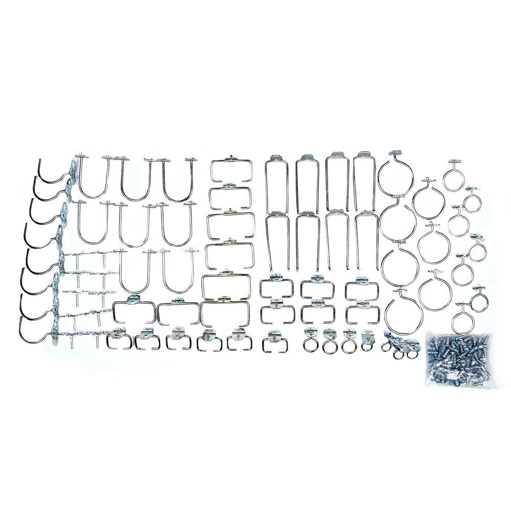 Triton Products 1/8 in. Pegboard Wall Organizer Hook Value Pack (75-Piece)