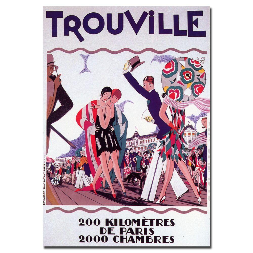 Trademark Fine Art 24 in. x 32 in. Trouville Canvas Art