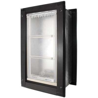 10 in. x 19 in. Large Single Flap for Walls with Black Aluminum Frame