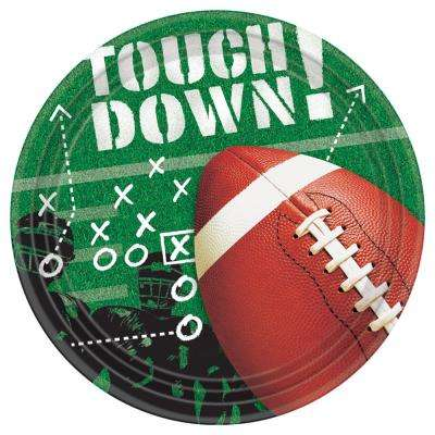 7 in. x 0.5 in. Football Frenzy Paper Plates