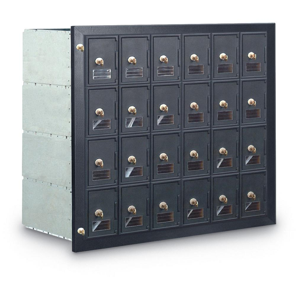 24 Compartment Mailbox With Front Loading Guardian Module