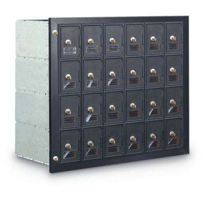 24-Compartment Mailbox with Front Loading Guardian Module
