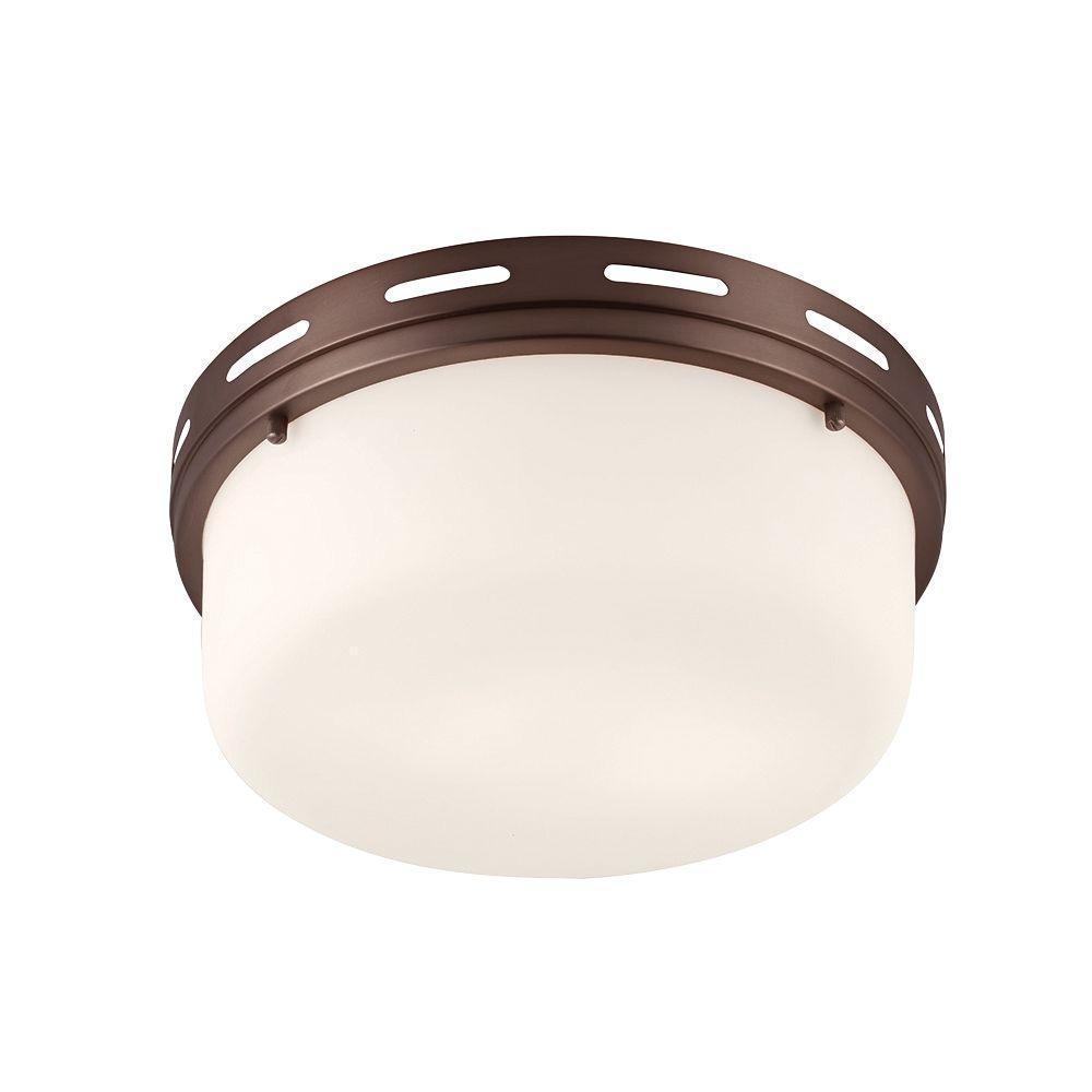 Feiss Manning 2-Light Chocolate Flushmount