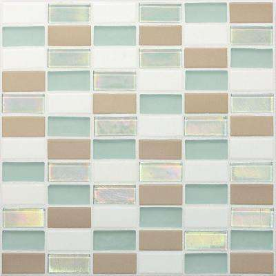 Coastal Keystones Trade Wind 12 in. x 12 in. x 6 mm Glass Mosaic Floor and Wall Tile (1 sq. ft. / piece)