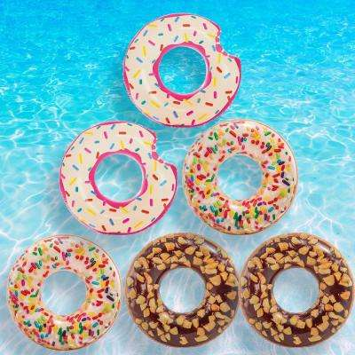 Donut Tube, Nutty Chocolate Donut and Sprinkle Donut Pool Float Combo Pack (6-Pack)