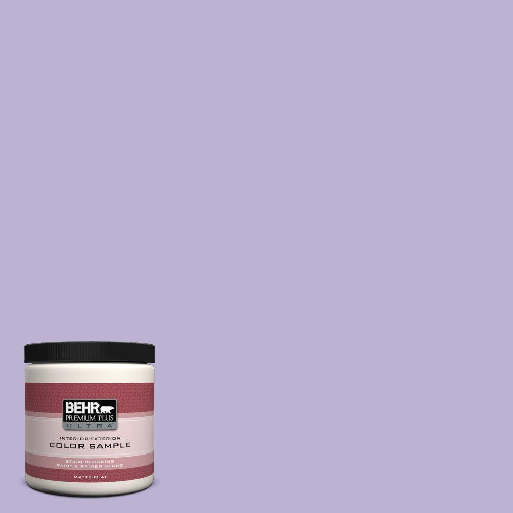 8 oz. #M560-3 Grape Hyacinth Flat Interior/Exterior Paint and Primer in