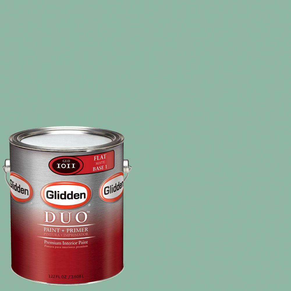Glidden DUO Martha Stewart Living 1-gal. #MSL133-01F Duck's Egg Flat Interior Paint with Primer-DISCONTINUED