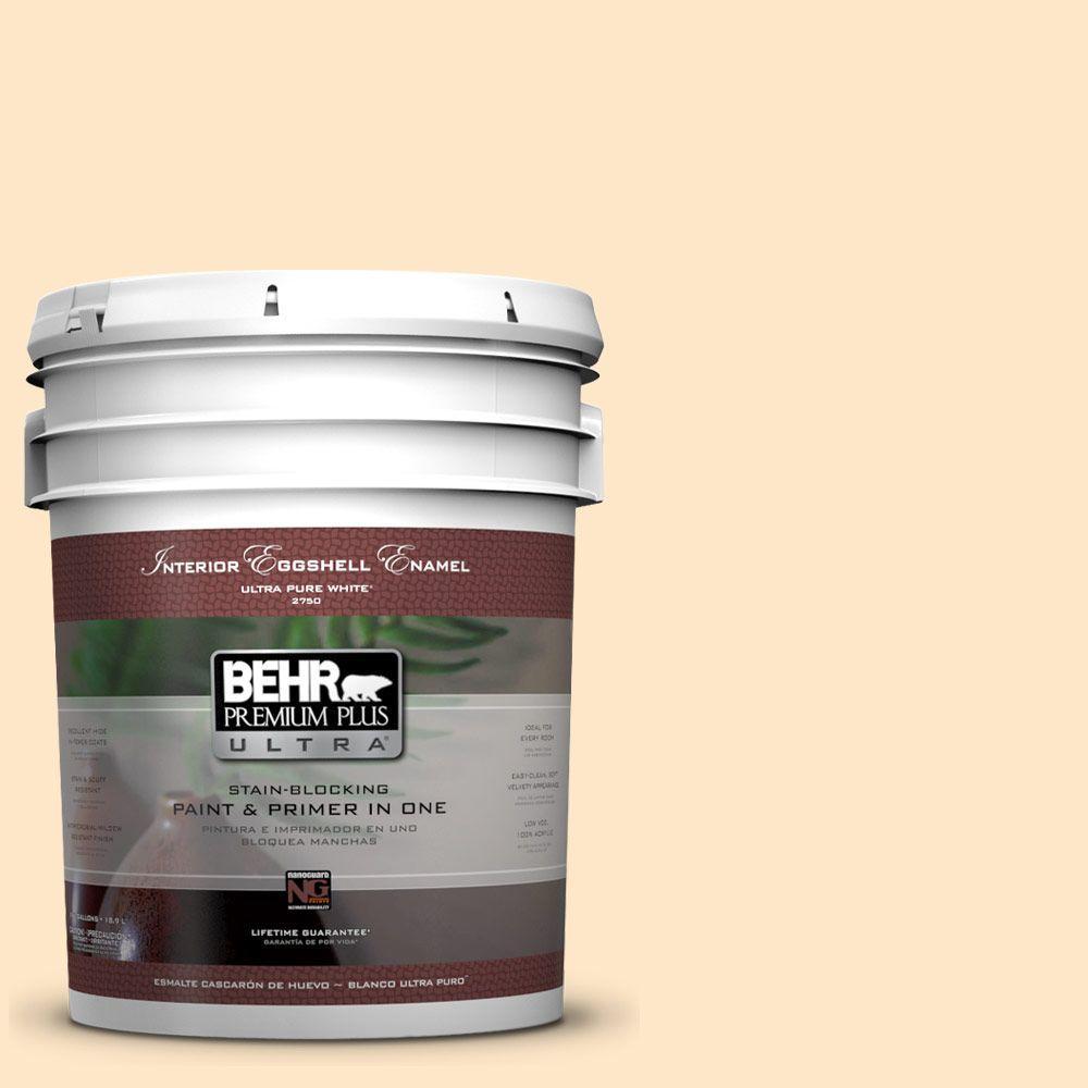 BEHR Premium Plus Ultra 5-gal. #ECC-49-1 Antigua Sunrise Eggshell Enamel Interior Paint