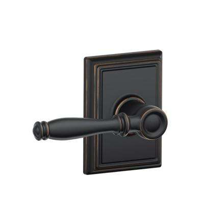 Birmingham Aged Bronze Passage Hall/Closet Door Lever with Addison Trim