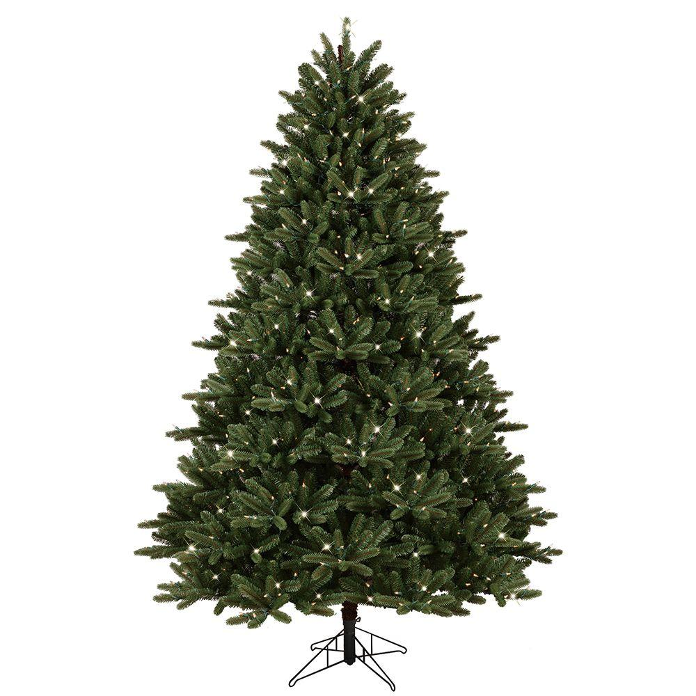 ge 7 5 ft pre lit led just cut frasier fir artificial christmas tree with ez light technology. Black Bedroom Furniture Sets. Home Design Ideas