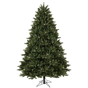 GE 7.5 ft. Pre-Lit LED Just Cut Frasier Fir Artificial Christmas ...