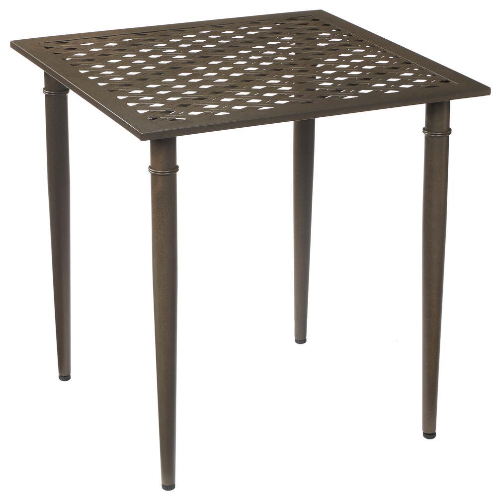 oak cliff metal outdoor bistro table