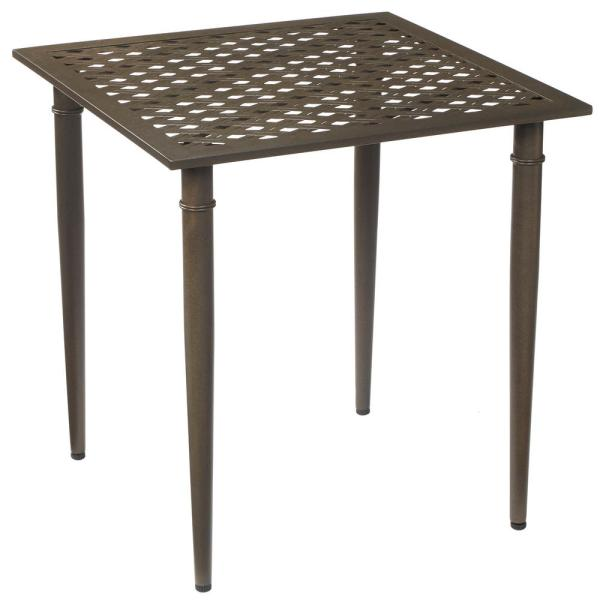 Oak Cliff Metal Outdoor Patio Bistro Table
