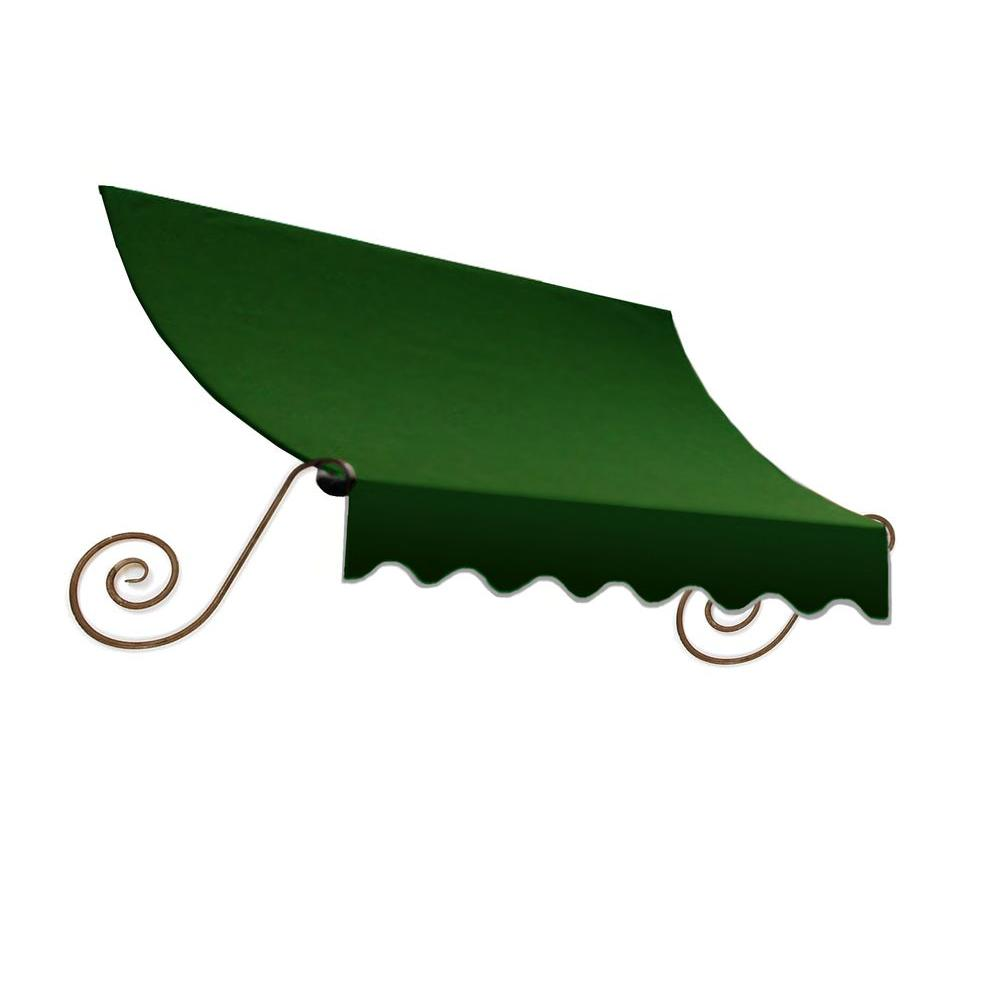 AWNTECH 5 ft. Charleston Window Awning (24 in. H x 12 in. D) in Forest