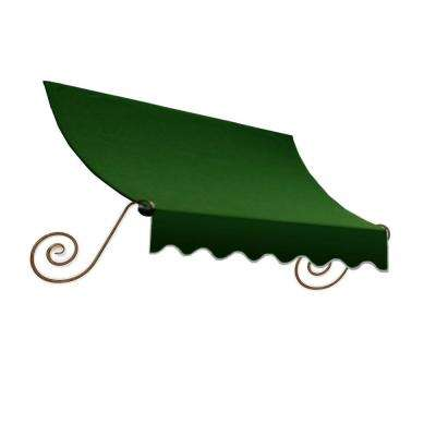 14 ft. Charleston Window Awning (44 in. H x 24 in. D) in Forest