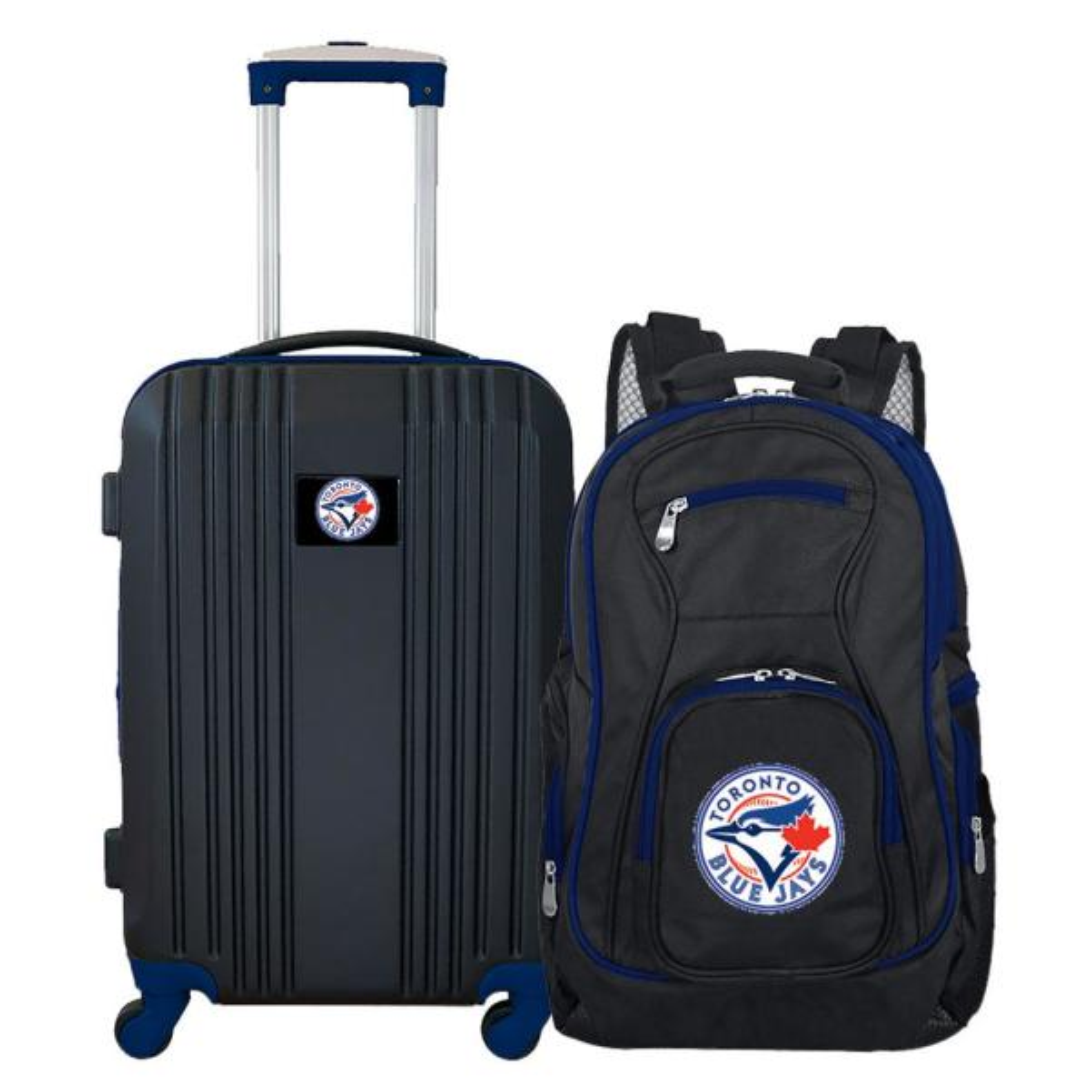 Mojo MLB Toronto Blue Jays 2-Piece Set Luggage and Backpack MLTOL108
