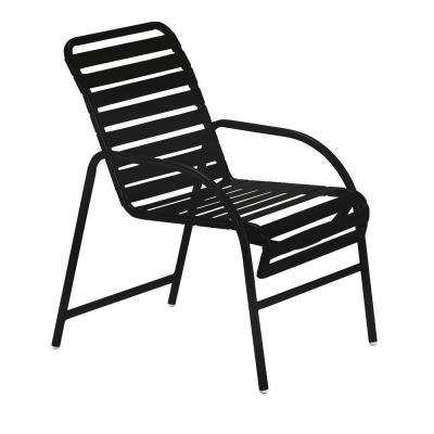 Milan Black Commercial Patio Game Chair (2-Pack)