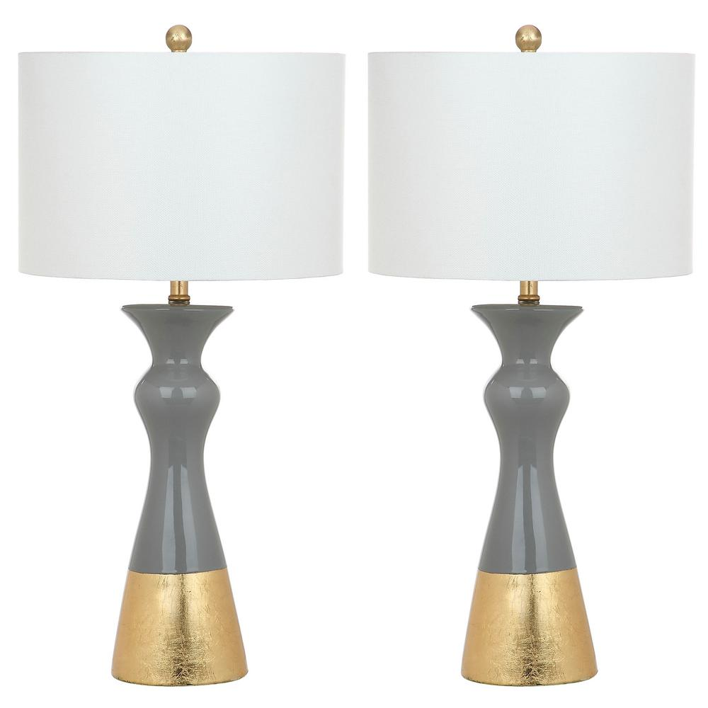 Safavieh iris 305 in greygold table lamp set of 2 lit4513a set2 greygold table lamp set of 2 aloadofball Gallery