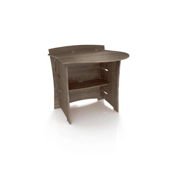 Legare 31 in. Peninsula Desk Addition with Solid Wood in Grey