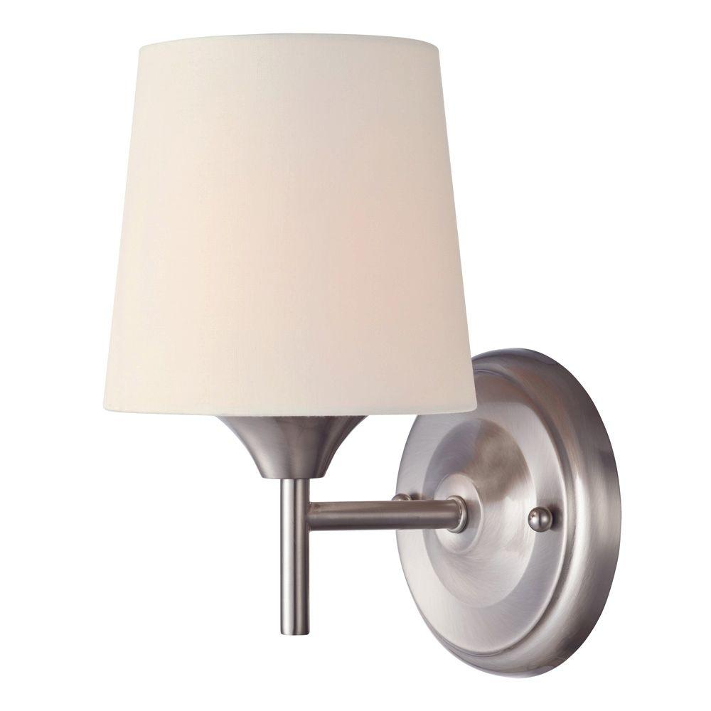 Light Brushed Nickel Wall Fixture