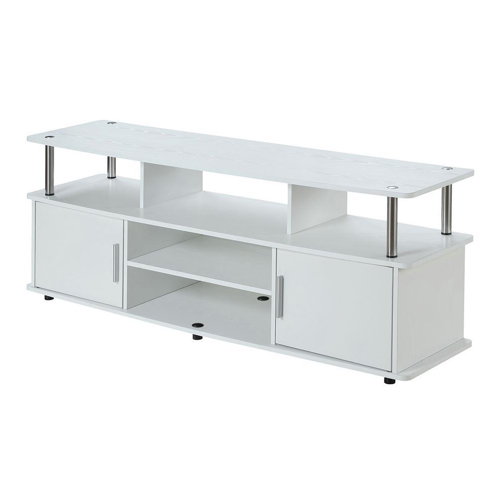 Designs2Go Monterey White 60 in. TV Stand