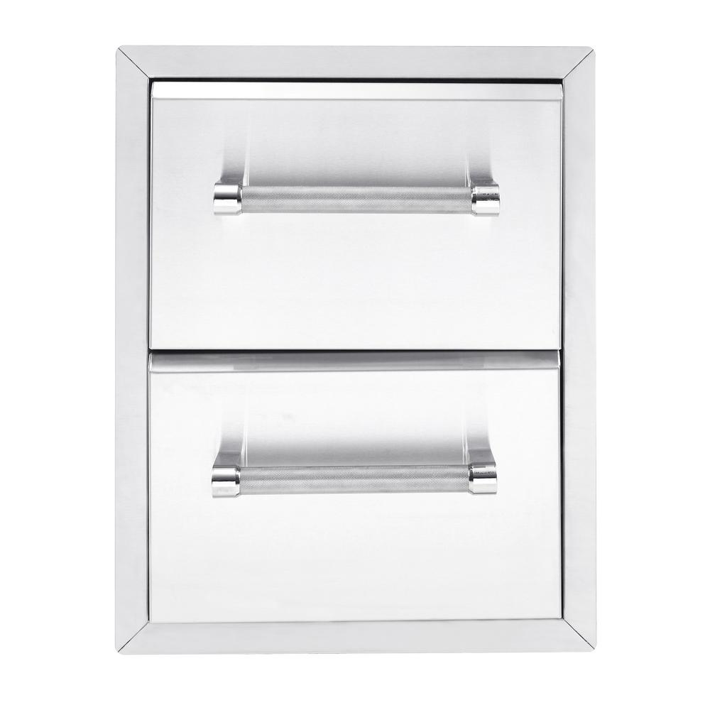 kitchenaid 18 in built in grill 2 drawer large the home depot