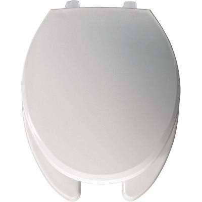 Elongated Open Front Toilet Seat in White